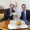 SZIJJARTO_Peter fogadja HORVÁTH_Ferenc urat a Szlovén Országgyűlés magyar nemzetiségi közösségi képviselőcsoportjának képviselőjét a KKM-ben, Budapesten.